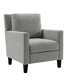 Pillow Back Accent Chair in Grey