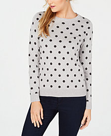 Charter Club Patterned Crew-Neck Sweater, Created for Macy's