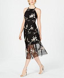 Vince Camuto Embroidered Halter Dress
