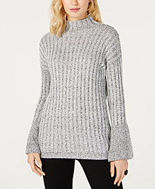 I.N.C. Bell-Sleeve Turtleneck Sweater, Created for Macy's