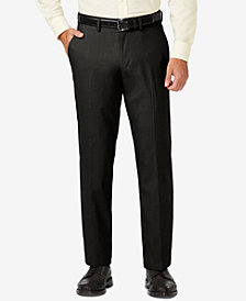 J.M. Haggar Men's Modern-Fit Stretch Sharkskin Solid Dress Pants