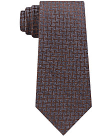 Michael Kors Men's Marl Criss Cross Neat Tie