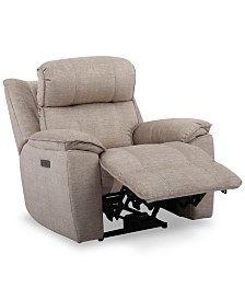 "Fordbridge 39.5"" Fabric Dual Power Recliner with USB Power Outlet"