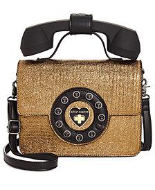 Betsey Johnson Metallic Phone Crossbody
