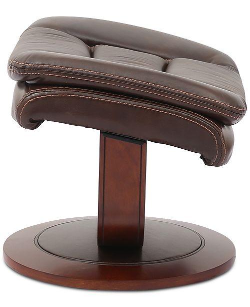 Furniture Faringdon Leather Euro Chair Amp Ottoman Amp Reviews