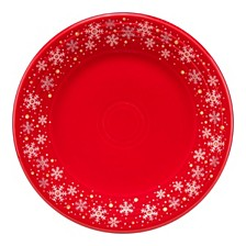 """Scarlet Snowflake 9"""" Lunch Plate"""