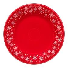 Fiesta Scarlet Snowflake Lunch Plate