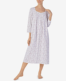 Eileen West Petite Cotton Printed Ballet Nightgown