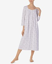 4c00b26a6f Eileen West Petite Cotton Printed Ballet Nightgown