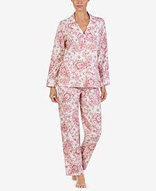 Lauren Ralph Lauren Cotton Knit Pajama Set