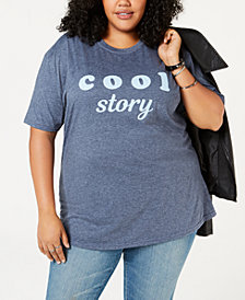 Love Tribe Plus Size Cool Story Graphic T-Shirt