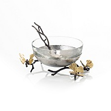 Butterfly Gingko Glass Nut Dish