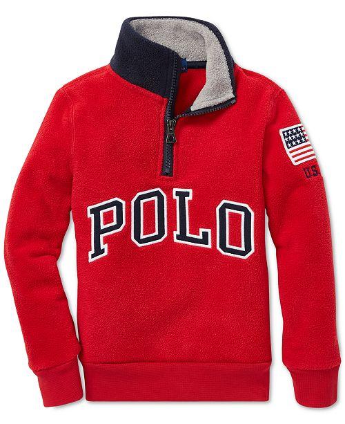 afbbba477 Polo Ralph Lauren Toddler Boys Fleece Mock Neck Pullover   Reviews ...