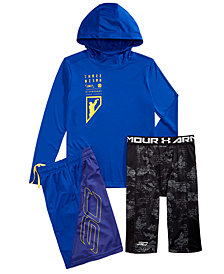 Under Armour Big Boys SC30-Print Hooded T-Shirt, Shorts & Leggings