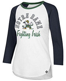 '47 Brand Women's Notre Dame Fighting Irish Script Splitter Raglan T-Shirt