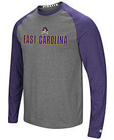Colosseum Men's East Carolina Pirates Social Skills Long Sleeve Raglan Top