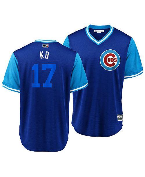 buy popular 81403 cae1b Majestic Men's Kris Bryant Chicago Cubs Players Weekend ...