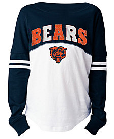 5th & Ocean Chicago Bears Slub Long Sleeve T-Shirt, Girls (4-16)