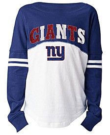 New York Giants Slub Long Sleeve T-Shirt, Girls (4-16)