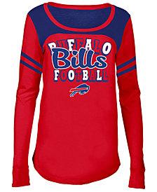 5th & Ocean Buffalo Bills Sleeve Stripe Long Sleeve T-Shirt, Girls (4-16)