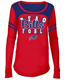 5th & Ocean Buffalo Bills Sleeve Stripe Long Sleeve T-Shirt, Girls (4-16)