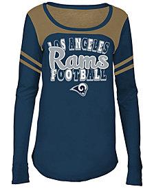 5th & Ocean Los Angeles Rams Sleeve Stripe Long Sleeve T-Shirt, Girls (4-16)