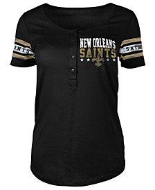 5th & Ocean Women's New Orleans Saints Button Down T-Shirt
