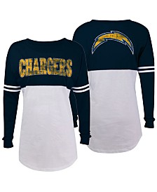 5th & Ocean Women's San Diego Chargers Sweeper Long Sleeve T-Shirt