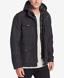 Dockers Men's Wool-Blend Four-Pocket Coat
