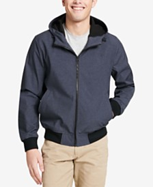 Dockers Men's Soft Shell Hooded Bomber Jacket