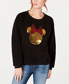 Jerry Leigh Juniors' Minnie Mouse Sequin Plush Sweatshirt