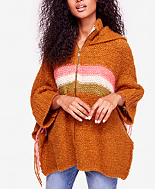 Free People Desert Sunrise Hooded Poncho