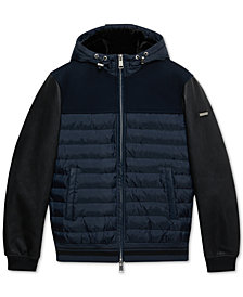 A|X Armani Exchange Men's Mixed-Media Puffer Jacket