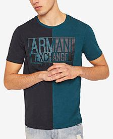A|X Armani Exchange Men's Colorblocked Split Logo T-Shirt