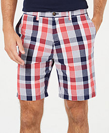 "Tommy Hilfiger Men's Raf Plaid 9"" Chino Shorts, Created for Macy's"