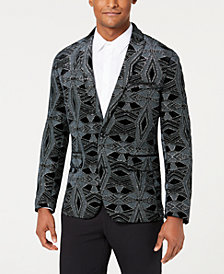 I.N.C. Men's Slim-Fit Glitter Velvet Pattern Blazer, Created for Macy's