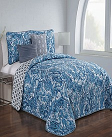 Dominica 5 Pc Queen Quilt Set
