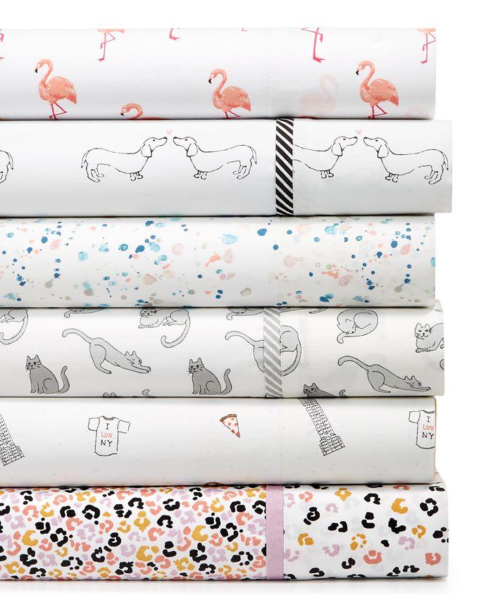 Martha Stewart Collection - Martha Stewart Whim Collection Printed Cotton Percale Sheet Sets