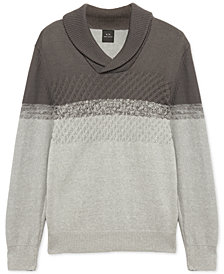 Armani Exchange Mens Colorblocked Shawl Sweater