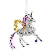 Global Goods Partners Beaded Unicorn Ornament
