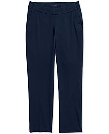 Tommy Hilfiger Adaptive Women's Madison Ankle Pants with Magnetic Fly