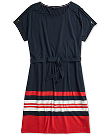 Tommy Hilfiger Women's Sylvie Slit  Shoulder Dress, from the Adaptive Collection