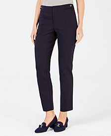 Charter Club Tab-Waist Slim Pants, Created for Macy's