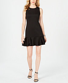 Vince Camuto Sleeveless Ruffled-Hem Shift Dress