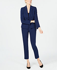 Le Suit Notched-Lapel Pantsuit