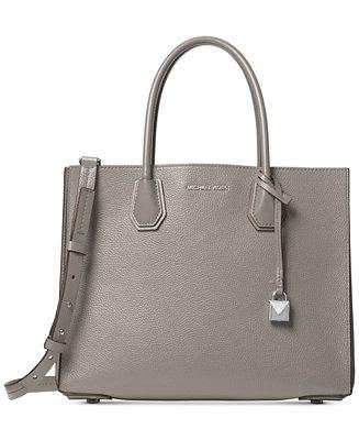 f74eff55ec84 Michael Kors Mercer Accordion Pebble Leather Tote & Reviews - Handbags &  Accessories - Macy's