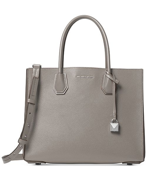 6887e8de9bb8 Michael Kors Mercer Accordion Pebble Leather Tote & Reviews ...