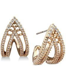 Jenny Packham Pavé Curved Open Stud Earrings