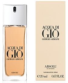 Men's Acqua di Giò Absolu Travel Spray, 0.67-oz.