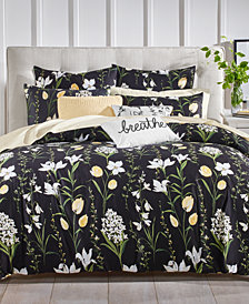Charter Club Damask Designs 3-Pc. Pressed Floral Printed King Comforter Set, Created for Macy's